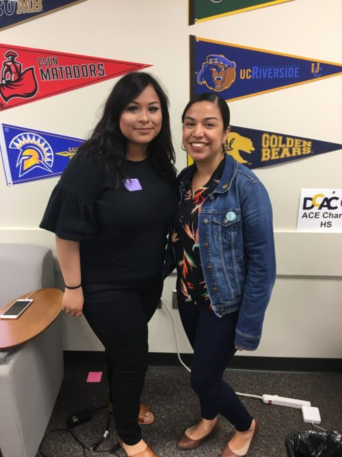 ACE Charter High School Angelie Lopez with student